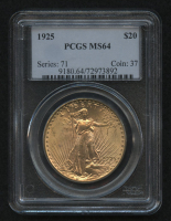 1925 $20 Saint-Gaudens Double Eagle Gold Coin (PCGS MS 64) at PristineAuction.com