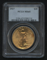 1927 $20 Saint-Gaudens Double Eagle Gold Coin (PCGS MS 65) at PristineAuction.com