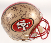 1996 San Francisco 49ers Full-Size Helmet Team-Signed by (37) with Steve Young, Terrell Owens, Jerry Rice, Bryant Young (Beckett LOA) at PristineAuction.com