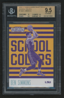 2016-17 Panini Contenders Draft Picks School Colors #1 Ben Simmons (BGS 9.5) at PristineAuction.com