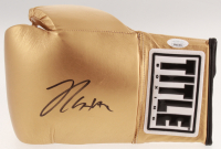 Julio Cesar Chavez Signed Title Gold Boxing Glove (JSA COA) at PristineAuction.com