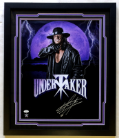 The Undertaker Signed 22x26 Custom Framed Photo Display (JSA COA) at PristineAuction.com
