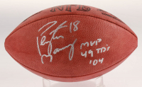 """Peyton Manning Signed Official NFL Game Ball Inscribed """"MVP 49 TD's '04"""" (Beckett COA) at PristineAuction.com"""