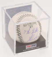 "Nolan Ryan Signed 2001 All-Star Game Baseball with Display Case Inscribed "" 7 No-Hitters"" (PSA COA - Graded 8.5) at PristineAuction.com"