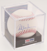 Rickey Henderson Signed OML Baseball with Display Case (PSA COA - Graded 9.5) at PristineAuction.com