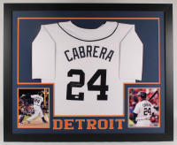 Miguel Cabrera Signed 35x43 Custom Framed Jersey (JSA COA) (Imperfect) at PristineAuction.com