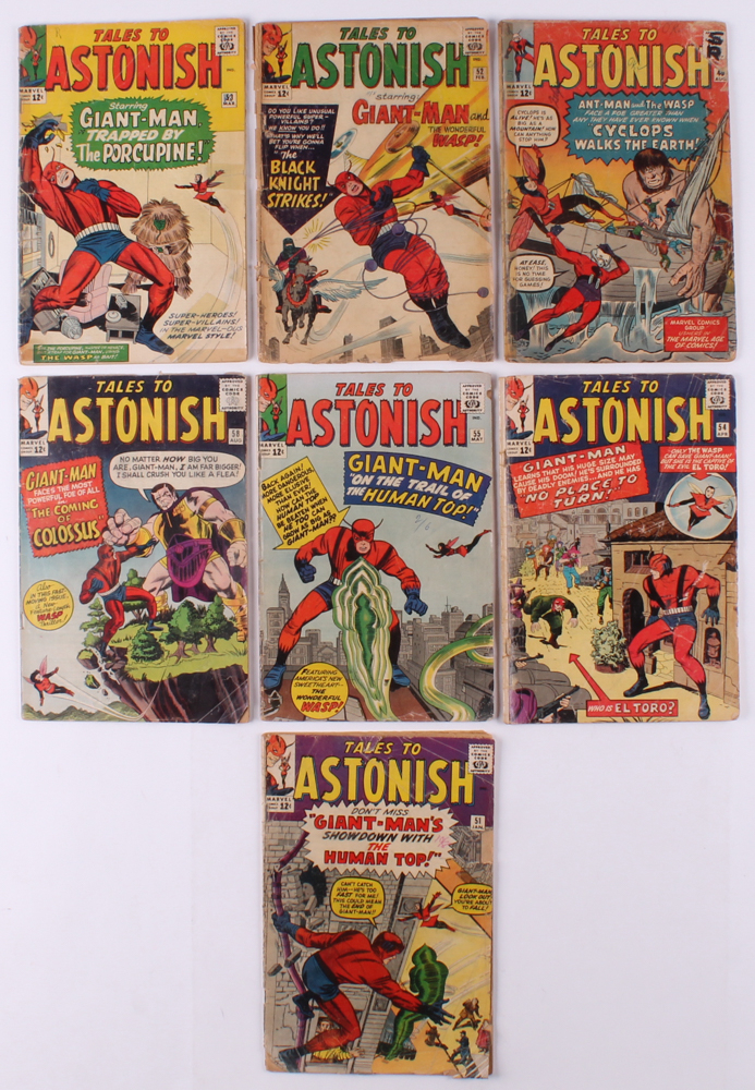 """Lot of (7) 1959-68 """"Tales to Astonish"""" Marvel Comic Books at PristineAuction.com"""