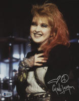 Cyndi Lauper Signed 8x10 Photo with Hand-Drawn Sketch (Beckett COA) at PristineAuction.com