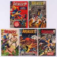 "Lot of (5) 1965-67 ""The Avengers"" Marvel Comic Books at PristineAuction.com"