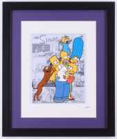 """The Simpsons"" 16x19 Custom Framed Hand-Painted Animation Serigraph Display at PristineAuction.com"