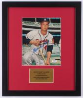 Eddie Mathews Signed Milwaukee Braves 16x19 Custom Framed Photo Display (PSA COA) at PristineAuction.com