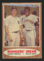 1962 Topps #18 Managers Dream / Mickey Mantle / Willie Mays at PristineAuction.com