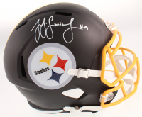 JuJu Smith-Schuster Signed Pittsburgh Steelers Full-Size Matte Black Speed Helmet (TSE COA) at PristineAuction.com