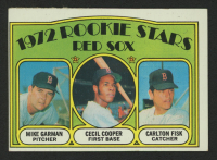 1972 Topps #79 Rookie Stars / Mike Garman / Cecil Cooper RC / Carlton Fisk RC at PristineAuction.com