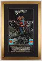 """Superman"" 17x25 Custom Framed Movie Poster Display at PristineAuction.com"