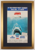 """""""Jaws"""" 17x25 Custom Framed Movie Poster Display at PristineAuction.com"""
