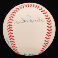 Mickey Mantle, Willie Mays & Duke Snider Signed OAL Baseball with High Quality Display Case (JSA LOA) at PristineAuction.com