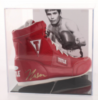 Julio Cesar Chavez Signed Title Boxing Shoe with Display Case (JSA COA) at PristineAuction.com