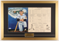 Mickey Mantle Signed New York Yankees LE 19x26 Custom Framed Print Display (PSA LOA) at PristineAuction.com