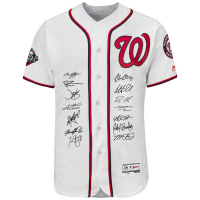2019 Washington Nationals LE Jersey Team-Signed by (14) with Howie Kendrick, Patrick Corbin, Max Scherzer, Dave Martinez, Juan Soto (Fanatics Hologram) at PristineAuction.com