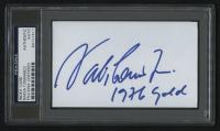 "Nadia Comaneci Signed 3x5 Index Card Inscribed ""1976 Gold"" (PSA Encapsulated) at PristineAuction.com"