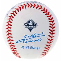 "Juan Soto Signed 2019 World Series Baseball Inscribed ""19 WS Champs"" (Fanatics Hologram) at PristineAuction.com"