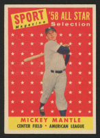 1958 Topps #487 Mickey Mantle All-Star TP at PristineAuction.com