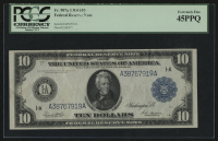 1914 $10 Ten Dollars Federal Reserve Large Size Bank Note (PCCS 45) (PPQ) at PristineAuction.com