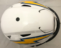 Joey Bosa Signed Los Angeles Chargers Full-Size Authentic On-Field Hydo-Dipped SpeedFlex Helmet (Beckett COA) at PristineAuction.com