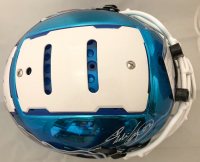 Eddie George Signed Tennessee Titans Full-Size Authentic On-Field Chrome F7 Helmet (Beckett COA) at PristineAuction.com