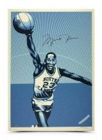Michael Jordan Signed North Carolina Tar Heels 24x36 Silkscreen Print (UDA COA) at PristineAuction.com
