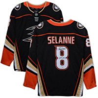 "Teemu Selanne Signed Anaheim Ducks Jersey Inscribed ""HOF 2017"" (Fanatics Hologram) at PristineAuction.com"