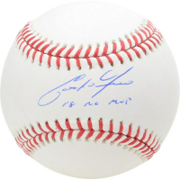 "Christian Yelich Signed Baseball Inscribed ""18 NL MVP"" (Fanatics Hologram) at PristineAuction.com"