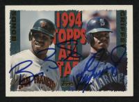 Barry Bonds & Ken Griffey Jr. Signed 1995 Topps #388 (JSA ALOA) at PristineAuction.com