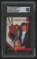 Mario Lemieux Signed 1993-94 Stadium Club #146 Masterton Trophy (SGC Encapsulated) at PristineAuction.com