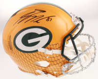 Jordy Nelson Signed Green Bay Packers Full-Size Authentic On-Field Hydro-Dipped Speed Helmet (JSA COA) at PristineAuction.com