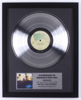 "The Eagles 15.75x19.75 Custom Framed Gold Plated ""Hotel California"" Record Album Award Display at PristineAuction.com"