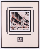 Babe Ruth New York Yankees 13.25x15.75 Custom Framed Stamp Display at PristineAuction.com