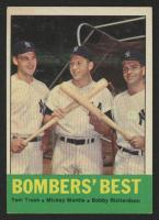 1963 Topps #173 Bomber's Best Tom Tresh / Mickey Mantle / Bobby Richardson at PristineAuction.com