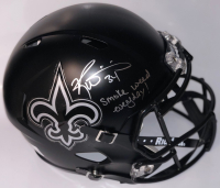 """Ricky Williams Signed New Orleans Saints Full-Size BlackOut Speed Helmet Inscribed """"Smoke Weed Everyday!"""" (PSA Hologram) at PristineAuction.com"""