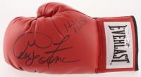 George Foreman & Evander Holyfield Signed Everlast Boxing Glove (Foreman Hologram & JSA COA) at PristineAuction.com