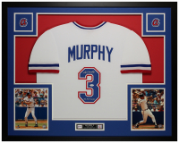 "Dale Murphy Signed 35x43 Custom Framed Jersey Inscribed ""NL MVP 82, 83"" (JSA COA) at PristineAuction.com"