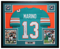 Dan Marino Signed 35x43 Custom Framed Jersey (JSA COA) at PristineAuction.com