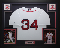 David Ortiz Signed 35x43 Custom Framed Jersey (Fanatics Hologram & MLB Hologram) at PristineAuction.com