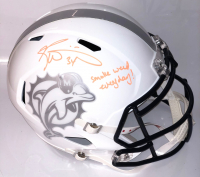 """Ricky Williams Signed Miami Dolphins Speed Helmet Inscribed """"Smoke Weed Everyday!"""" (PSA Hologram) at PristineAuction.com"""