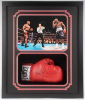 Mike Tyson & Evander Holyfield Signed 22.5x26.25x4.5 Custom Framed Shadowbox Display (JSA COA & Fiterman Hologram) at PristineAuction.com
