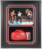 Mike Tyson & Evander Holyfield Signed 22.5x26.25x4.5 Custom Framed Shadowbox Display (JSA COA & Fiterman Hologram) at PristineAuction.com