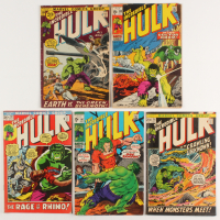 "Lot of (5) 1971 ""The Incredible Hulk"" 1st Series Marvel Comic Books at PristineAuction.com"