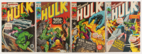 """Lot of (4) 1971 """"The Incredible Hulk"""" 1st Series Marvel Comic Books at PristineAuction.com"""