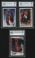 Lot of (3) BCCG (10) Graded Michael Jordan Basketball Cards with 1991-92 Upper Deck #75, 1991-92 Upper Deck #69 All-Star & 1997-98 Collector's Choice #192 at PristineAuction.com